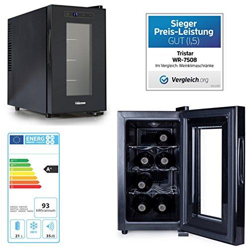 Termo eléctrico de enfriador de vino armario 21 Liter para 8Flaschen con...