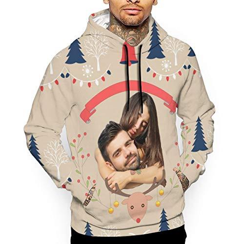 DIYBESTGIFT Suéter Personalizado Personalizado para Fotos de Pareja p