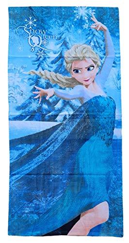 Generico Telo Mare Frozen Disney Elsa Snow Queen Asciugamano in Cotone CM 140X70 - 45035/2