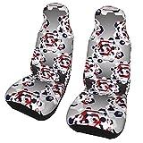Funda de asiento para coche Color diamante Patrón Funda para silla de coche Protector universal para asiento delantero de coche 2 piezas
