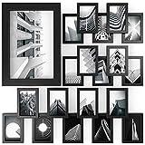 ARTEZA Cadres Photo 10,2x15,2cm Pack de 20 Cadres - Cadre Finition Bois - Façade en Verre Pur - Cadres muraux pour Documents et certificats - Galerie Murale