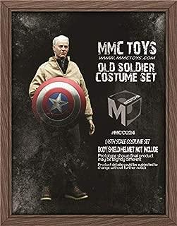 【R・DOLL】 1/6 フィギュア 男性 服 セット キャプテン アメリカ Captain Americ 老人 格好いい ハンサム 映画 コスプレ 情景 MCCTOYS MCC024