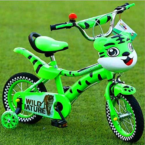 XXHDEE Kinderfahrrad, 12/16 Zoll Mountainbike, Pedal Allrad Kinderfahrrad (Color : Green, Size : 12Inch)