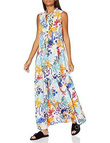 Marca Amazon - find. Vestido Midi Evasé de Flores Mujer