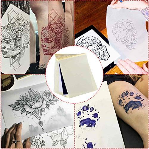 Tattoo Transfer Paper, Cridoz 100 Sheets Tattoo Stencil Transfer Paper for Tattooing