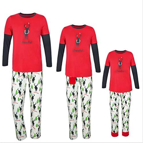 XYQB Pyjama de Service à Domicile de Noël à imprimé élan Pyjama de Noël en Daim Pyjama de Noël,Men,S