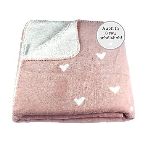 Odernichtoderdoch Kuscheldecke Flausch Rosa Pastell - Fleece - Polyester