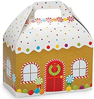 Pack of 6, Gingerbread House Gable Boxes 8.5 x 4.75 X5.5