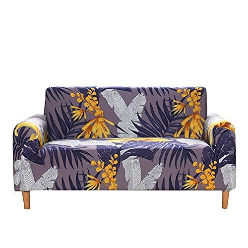 WXQY Funda Flexible para Micro sofá con Todo Incluido Funda de sofá a Rayas en Blanco y Negro Minimalista Moderno Universal Cuatro Veces A2 2 plazas