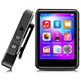 MP3 Player,32GB MP3 Player with Bluetooth,Portable Music Player with FM Radio/Recorder,HiFi Lossless Sound Quality,2.4Inch Touch Screen Mini MP3 Player for Running,Metal Shell Black