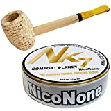 Missouri Meerschaum Pipe & NicoNone Herbal Smoking Blend 20g Tin (Comfort Planet)