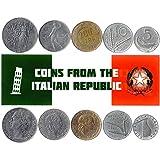 5 Monete Diverse - Vecchia, Valuta Estera Italiana Da Collezione Per Collezionare Libri - Unico Set Di Soldi Del Mondo - Regali Per Collezionisti