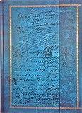 Tagebuch'Edle Schriften' Notizbuch Din A4 gepunktet/liniert Hardcover Magnetverschluss & Prägung gebunden türkis/braun Vintage-Look Reisetagebuch