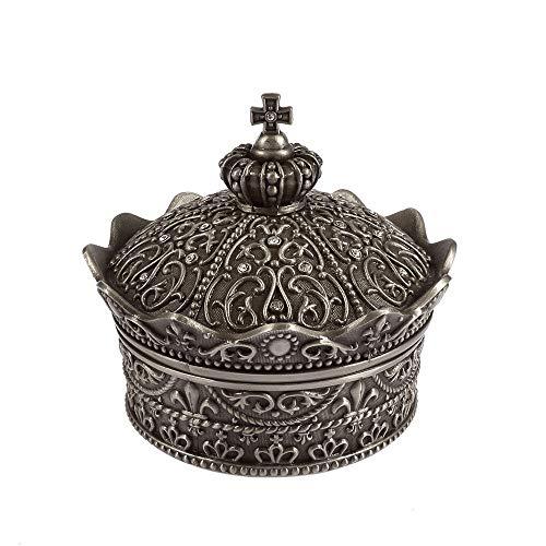YZYZYZ Corona De La Vendimia Caja De Joyas Hogar Sala De Estar Oficina Caja De Almacenamiento Creativo Decoración Exquisito Metal Craft Regalo