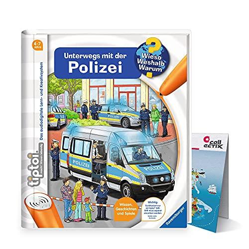 Collectix Ravensburger tiptoi Buch - Unterwegs mit der Polizei + Kinder Wimmel-Weltkarte | 4-7 Jahre