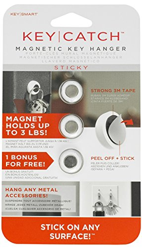 KeySmart KeyCatch - Un moderno clave magnética rack (Blanco)