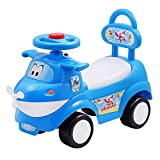 Love Baby Airplane Ride-on Scooter for Kids 1 to 5 Years Age (Blue)
