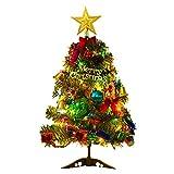 Logicstring 50Cm Mini árbol de Navidad Decorativo Iluminado Decoración navideña Escritorio Luminoso árbol de Navidad Adorno de Centro Comercial