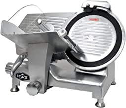 KWS Metal Collection Commercial 420W 12-Inch Meat Slicer MS-12DT Anodized Aluminum Base with Teflon Blade + Blade Removal Tool, Frozen Meat/Cheese/Food Slicer Low Noises Commercial and Home Use