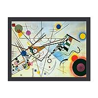 INOV 抽象芸術 ポスター フレーム(黒)付 壁掛け インテリア 壁紙用 絵画 アート 壁紙ポスター 40x30cm