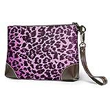 BFDX Animal Print Piel de Leopardo Bolso de Mano de Cuero Cartera Bolso Crossbody Clutch Cartera Bolsos para Mujer