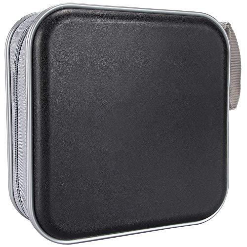 CD Titular Caso De Almacenamiento De CD DVD Mangas Bolsa De Almacenamiento Disco Duro Plástico 40 Capacidad Portátil Negro