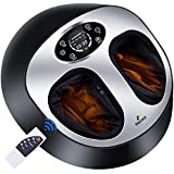 Foot Massager Machine with Heat and Remote , Shiatsu Deep kneading Compression Massage, Relieve Foot Pain and Improve Blood Circulation,Best Gifts for mom/dad/Women/Men