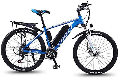 Mountain Bike Electric for Adult Aluminum Alloy Bicycles All Terrain 26' 36V 350W 13Ah Detachable Lithium Ion Battery Smart Ebike Mens,Yellow 1,13AH 80 km XIUYU (Color : Blue 1)