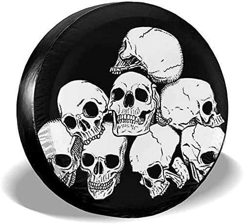 Baodan Cubierta de la rueda de repuesto, Cráneo Pila Cubierta del Neumático 14' 15' 16' 17' Pulgadas