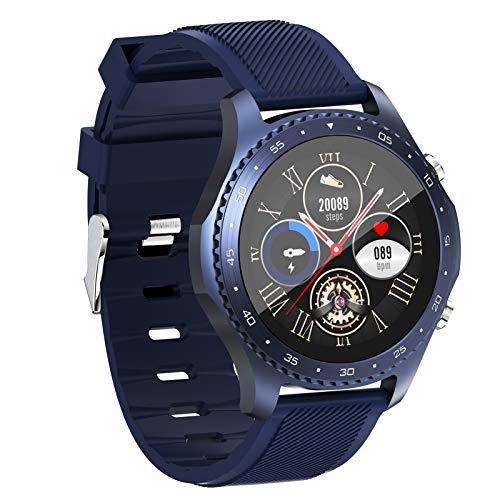 HQPCAHL Smartwatch,Reloj Inteligente con Pulsómetro,Cronómetros,Calorías,Monitor De Sueño,Podómetro Monitores De Actividad Impermeable IP68 Smartwatch Hombre Reloj Deportivo para Android iOS,Azul