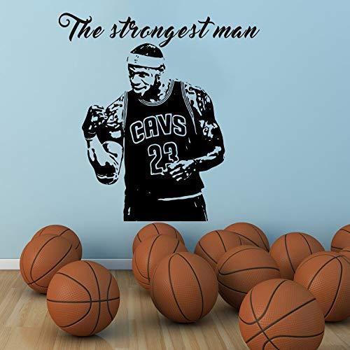 hetingyue Strongman Basketball muursticker, muursticker, decoratie van het huis, cadeau, groot, vinyl, geschikt voor kinderkamer jongens