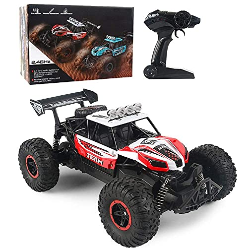 N&G Daily Equipment RC Buggy 1/14 Scale Large Off-Road Remote Control Car 20km/h High-Speed Bigfoot Drift RC Car 2.4GHz Electric 4WD Climbing RC Vehicle Gifts For Children and Adults (Color : Blue)