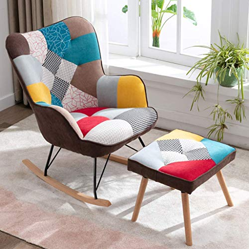 Whp Leisure reading chair Rocking chair Coffee chair patio garden Vacation Sun lounger Nap lounge chair Backrest armchair Recliner Deck chair Dining chair Home office chair