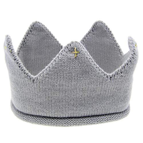 Chapeau Nouveau-né, Chapeau IMJONO Filles Infant Toddler Flower Hat Coton Chapeau Doux (6 Mois -3 Ans, Gris)