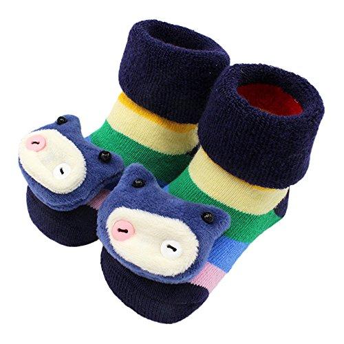 Serria® Mädchen Socken Baby-rasselsöckchen Baby Weihnachten Socken Antirutsch Warm Weiche Baumwolle Kindersocken Niedlich Tier Socken rutschfest Stopper Socken Baby