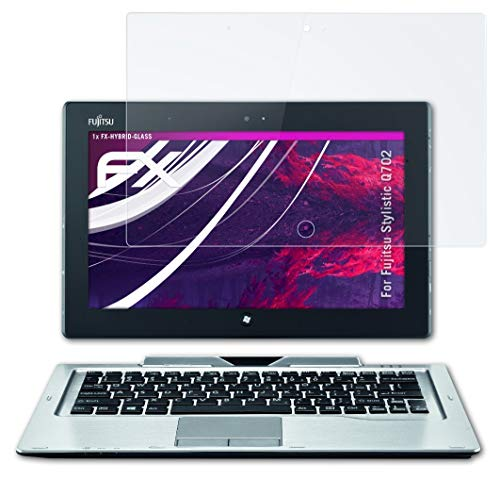 atFolix Glasfolie kompatibel mit Fujitsu Stylistic Q702 Panzerfolie, 9H Hybrid-Glass FX Schutzpanzer Folie
