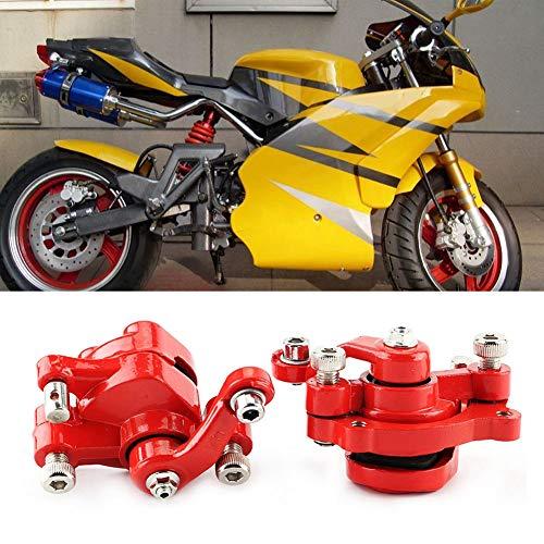 Freno de disco antioxidante, pinza de freno de disco roja Freno duradero descolorido 1 par de aleación de aluminio Fabricado para 43 47 49cc Bicicleta Mini motocicleta