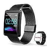 CanMixs Smartwatch Montre Connectée Bracelet Connecté Podometre, CM11 Cardiofréquencemètre Tracker d'Activité Bracelet Sport Etanche IP68 Sport Running Sommeil Calorie pour iOS Android Huawei Samsung