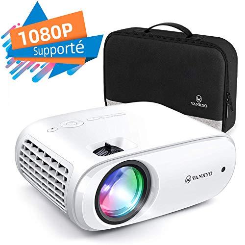 petit un compact Projecteur VANKYO avec vidéoprojecteur, luminosité de 5300 lumens et prise en charge du mini projecteur Full HD 1080P…