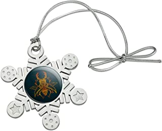GRAPHICS & MORE Steampunk Stag Beetle Metal Snowflake Christmas Tree Holiday Ornament