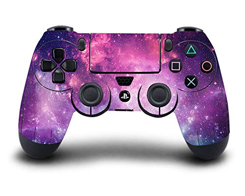 UUShop Vinyl Skin Sticker Decal Cover for Playstation4 PS4 Controller Purple Starry Galaxy