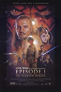STAR WARS EPISODE I THE PHANTOM MENACE MOVIE POSTER 2 Sided ORIGINAL 27x40 WITH AUTHENTICITY WATERMARK