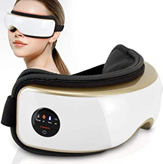 Heated Therapy Electric Eye Massager - Wireless Temple and Eye Massager Tool with Air Pressure and Vibration for Migraine,...