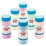 Baker Ross- Arena Fluorescente de 350 g (Pack de 6)- colores variados para Manualidades infantiles...