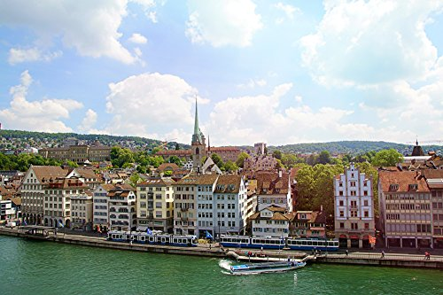 Gourmet Zurich Sightseeing Tour with Cheese Fondue for Two - Tinggly Voucher/Gift Card in a Gift Box