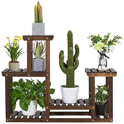 Yaheetech Indoor Outdoor Wood Plant Stand Now $34.79