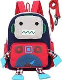 Sac A Dos Enfant Fille Robot Bambin Cartable Garderie PréScolaire Anti-Lost Sangle Laisse