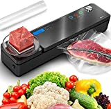 IPOW 2021 Upgrade Automatic Vacuum Sealer Machine with Kitchen Food Scale & LCD Display, Compact Food Sealer Full Starter Kit for Food Preservation Savers and Sous Vide, Dry & Moist Food Mode