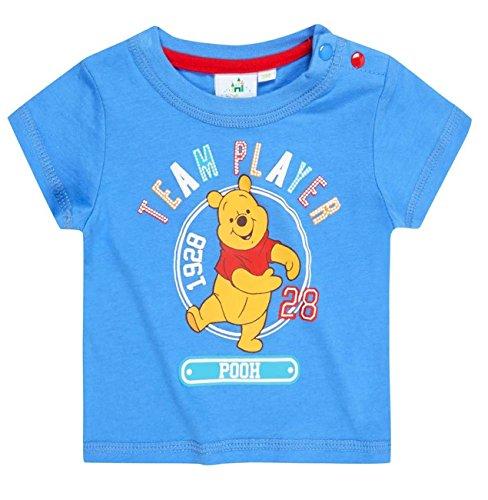 Tee shirt bébé manches courtes Winnie l'ourson Bleu de 3 à 24mois (12 mois)