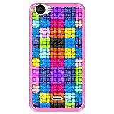 Hapdey Funda Rosa para [ Wiko Rainbow Jam ] diseño [ Cuadrados de Colores con Gotas de Agua ] Carcasa Silicona Flexible TPU